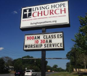 Pylon Sign - Living Hope Church