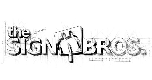 environmental graphic design the sign brothers logo