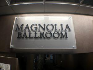 Magnolia Ballroom Acrylic Signage