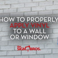 How To Properly Apply Vinyll To a Window or Wall