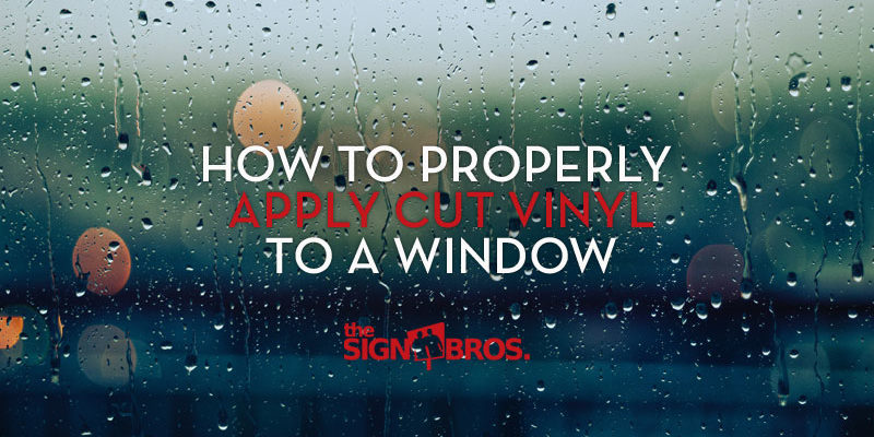 how to properly install cut vinyl to a window