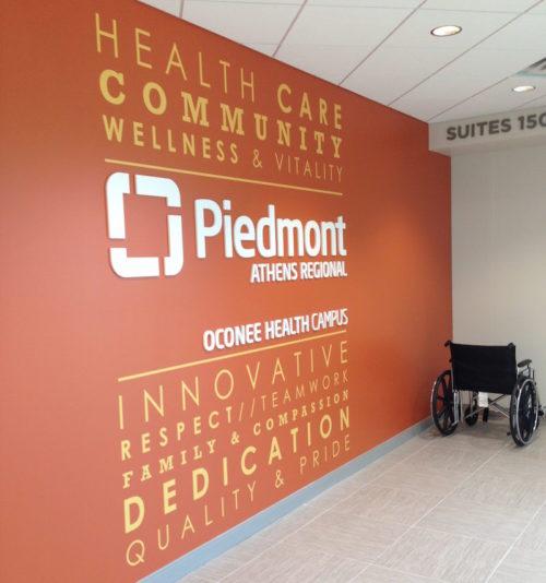 Piedmont Hospital wall installation