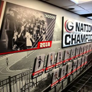 track national champion sign