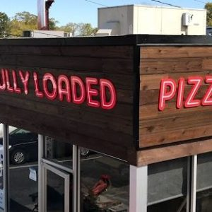 fully loaded pizza channel letter
